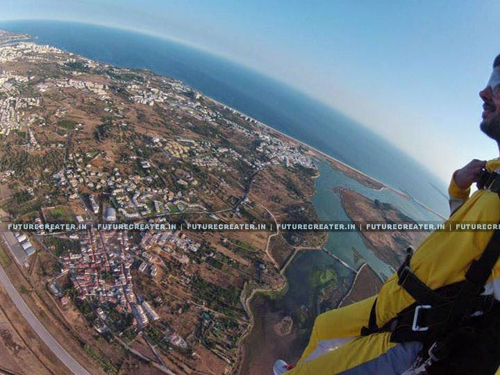 Dulquer Salmaan's Sky Diving Photos and Videos
