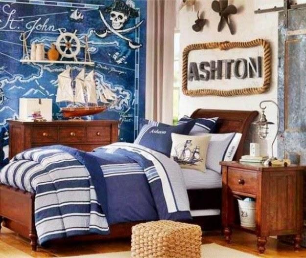 Cuartos marineros para ni os dormitorios colores y estilos for Decoracion nautica infantil