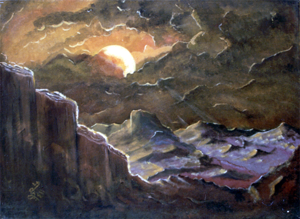لوحات الفنان السعودي عبد الله حجي