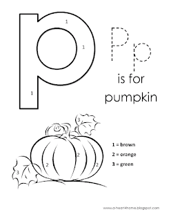 Kids Page Alphabet Letter P Lowercase Coloring Pages