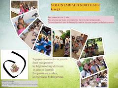 CONVOCATORIA DEL PROYECTO DE VOLUNTARIADO NORTE SUR PARA EL CURSO 2014-15