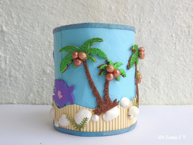 Beach Craft Ideas For Kids Part - 36: Beach Theme Recycling Craft