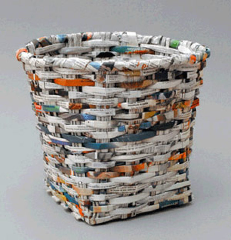 How To Recycle Recycled Waste Paper Basket