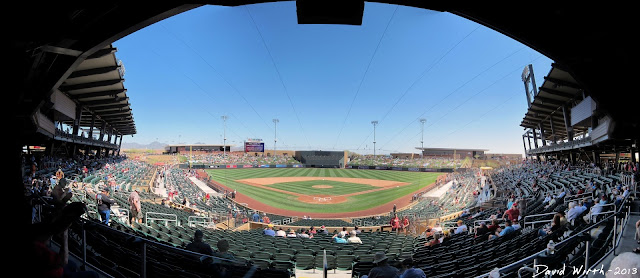 scottsdale stadium, panorama, field, view, baseball