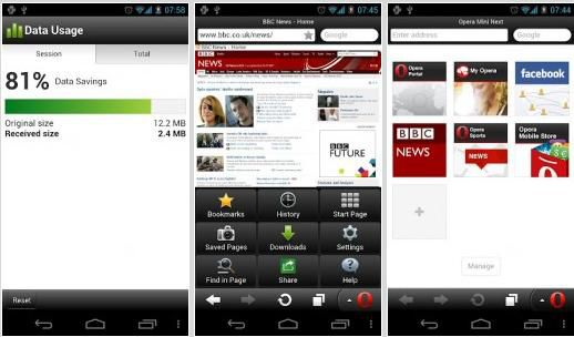 Download Opera Mini Web Browser 7 For Android