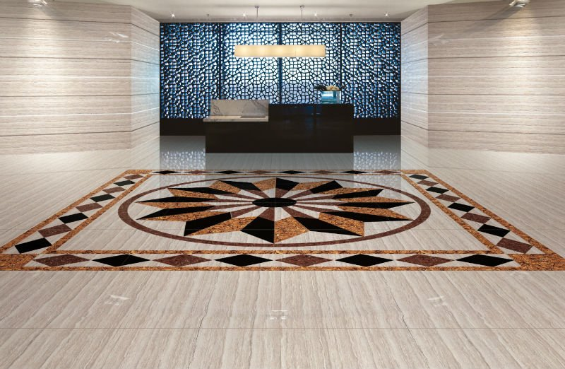 Foundation dezin decor natural stone polished floor Tiles for hall in india