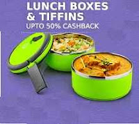 Buy Lunch Box & Tiffins With Extra Upto 51% Cashback Starting Rs 65 : Buy To Earn
