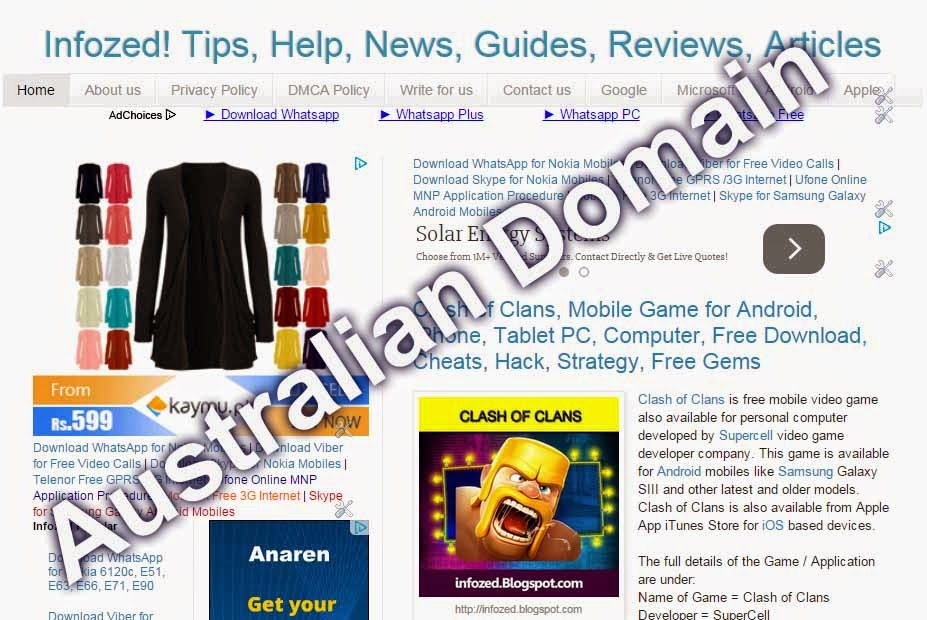 Australian version of Infozed, News, Tips, Help, Blogs, Technology launched