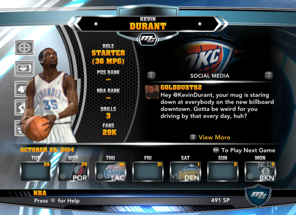 nba 2k14 Kevin Durant mycareer patch download hoopsvilla