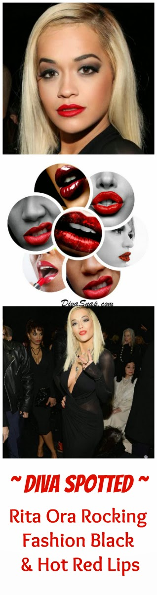 Trending: Rita Ora at NYFW rocking Hot Red Lips {Snappin!}