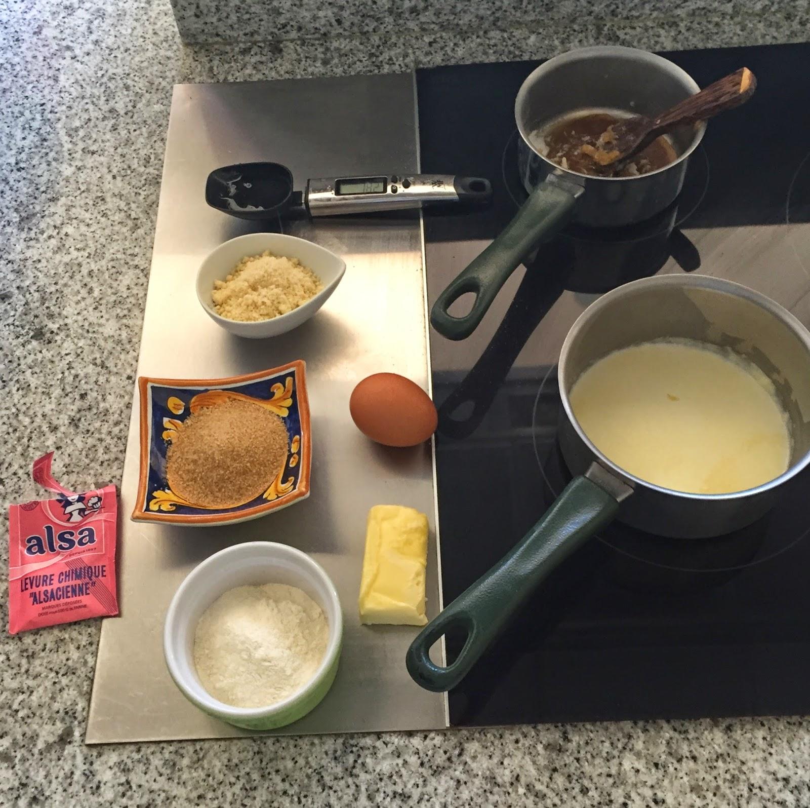 Ingrédient cakes au caramel d'après Christophe Michalak