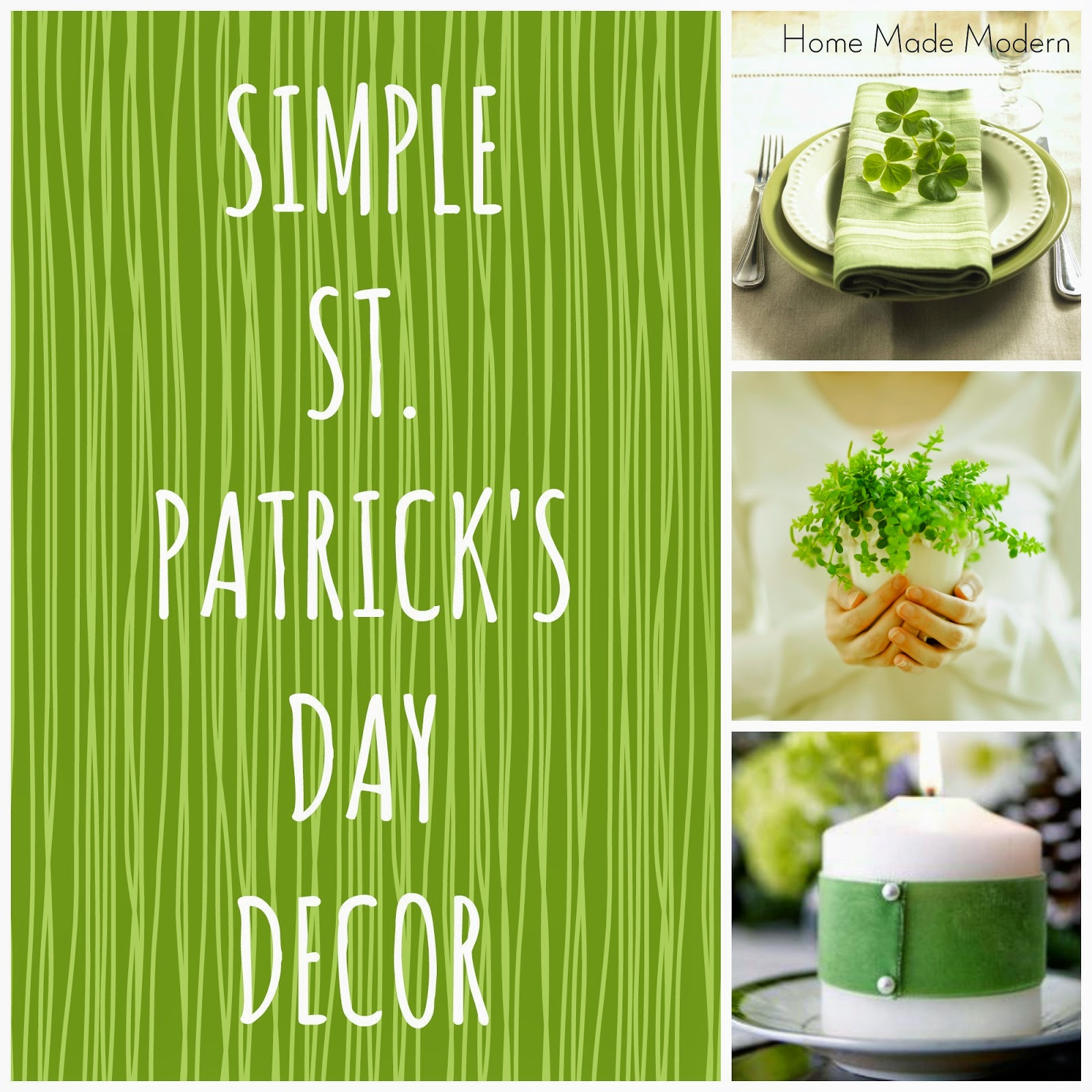 simple st. patrick's day decor - home made modern