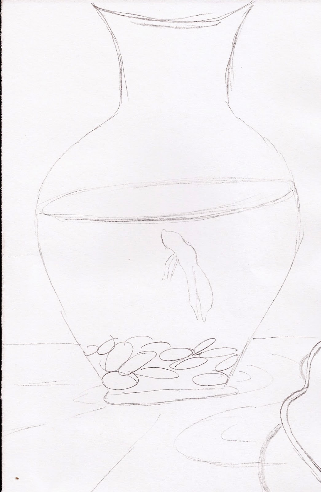 Free coloring pages of empty fishbowl for Empty fish bowl coloring page