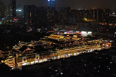 Yu Garden lights at night