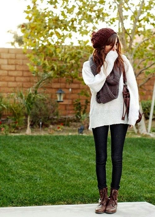 Love this Cute Outfits with Leggings and Combat Boots Nice for school