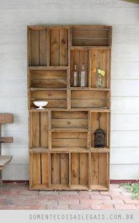 Mueble con madera reciclada