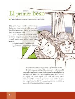 Apoyo Primaria Español Lecturas 6to Grado El primer beso