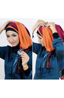 Tutorial hijab kombinasi unik 8 Tutorial Hijab Kombinasi Unik Untuk ke Pesta