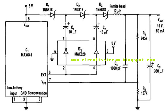 Build A Regulated Charge Pump Circuit Diagram