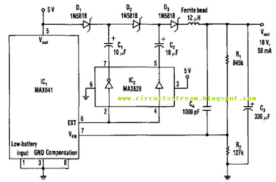 Regulated Charge Pump Circuit Diagram