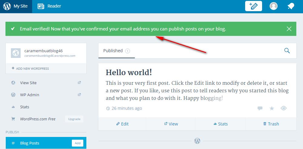 Cara Membuat Blog Gratis di Wordpress terbaru 2017