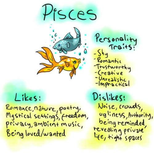Male Character Traits Pisces Character Traits