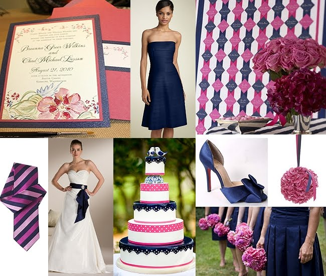Prepare wedding dresses navy blue and pink weddings for Navy blue and pink wedding