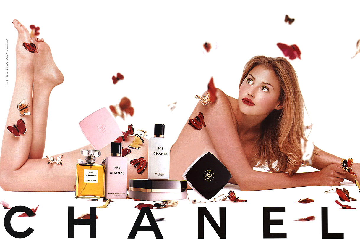 Estella Warren in Chanel No.5 campaign
