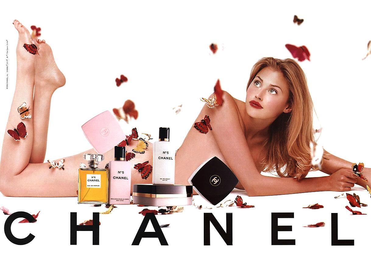 Estella Warren in Chanel No.5 campaign