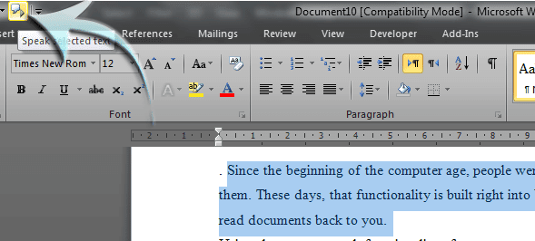 Cara Membuat Komputer Membacakan Dokumen Untuk Anda