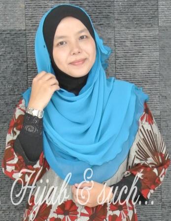 hijab and such, half moon, chiffon, half moon double layer, tudung murah, half moon murah