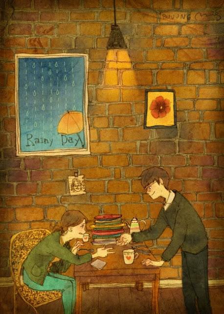 dessin manga couple amoureux artiste coréen Puuug