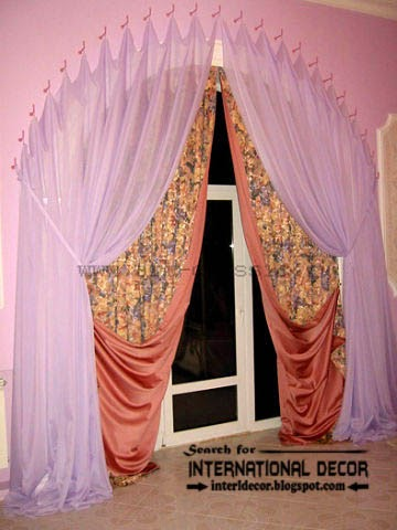 ready made curtains, modern curtain designs,pink curtains,arched curtain