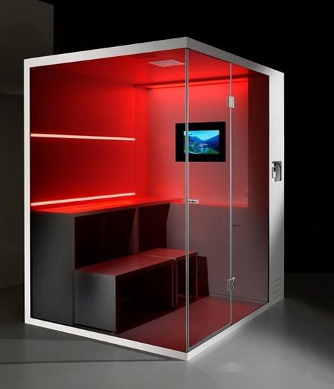 Cabinas De Ducha De Obra: la tecnologia led le da la posibilidad de cambios y lluvias de color
