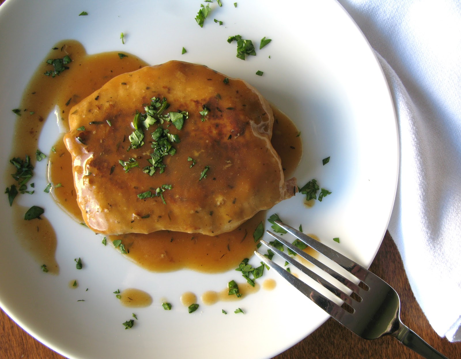 The Bake-Off Flunkie: Pork Chops with Garlic-Thyme Pan Sauce