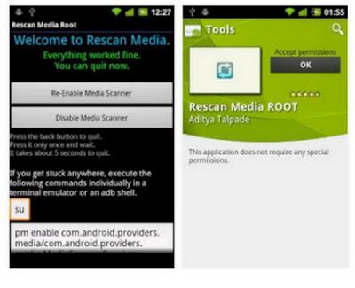 Cara Mempercepat Booting Android Rescan Media ROOT