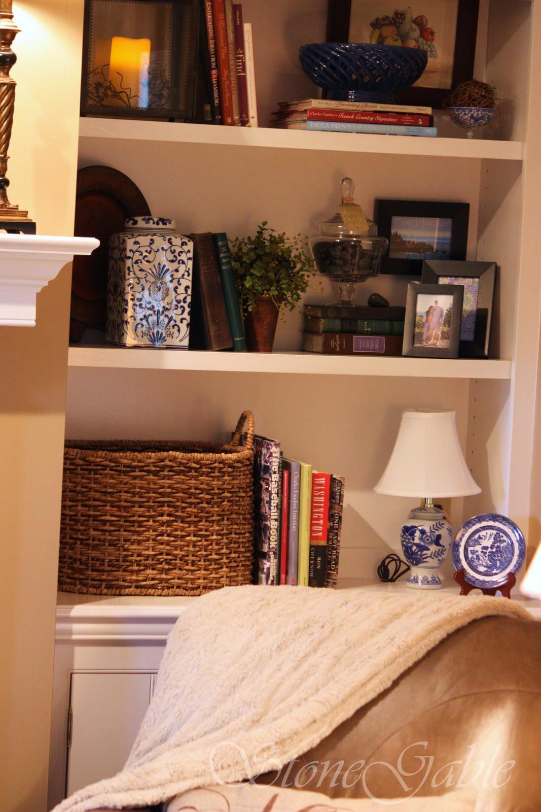 Pebbles on the book shelf   stonegable