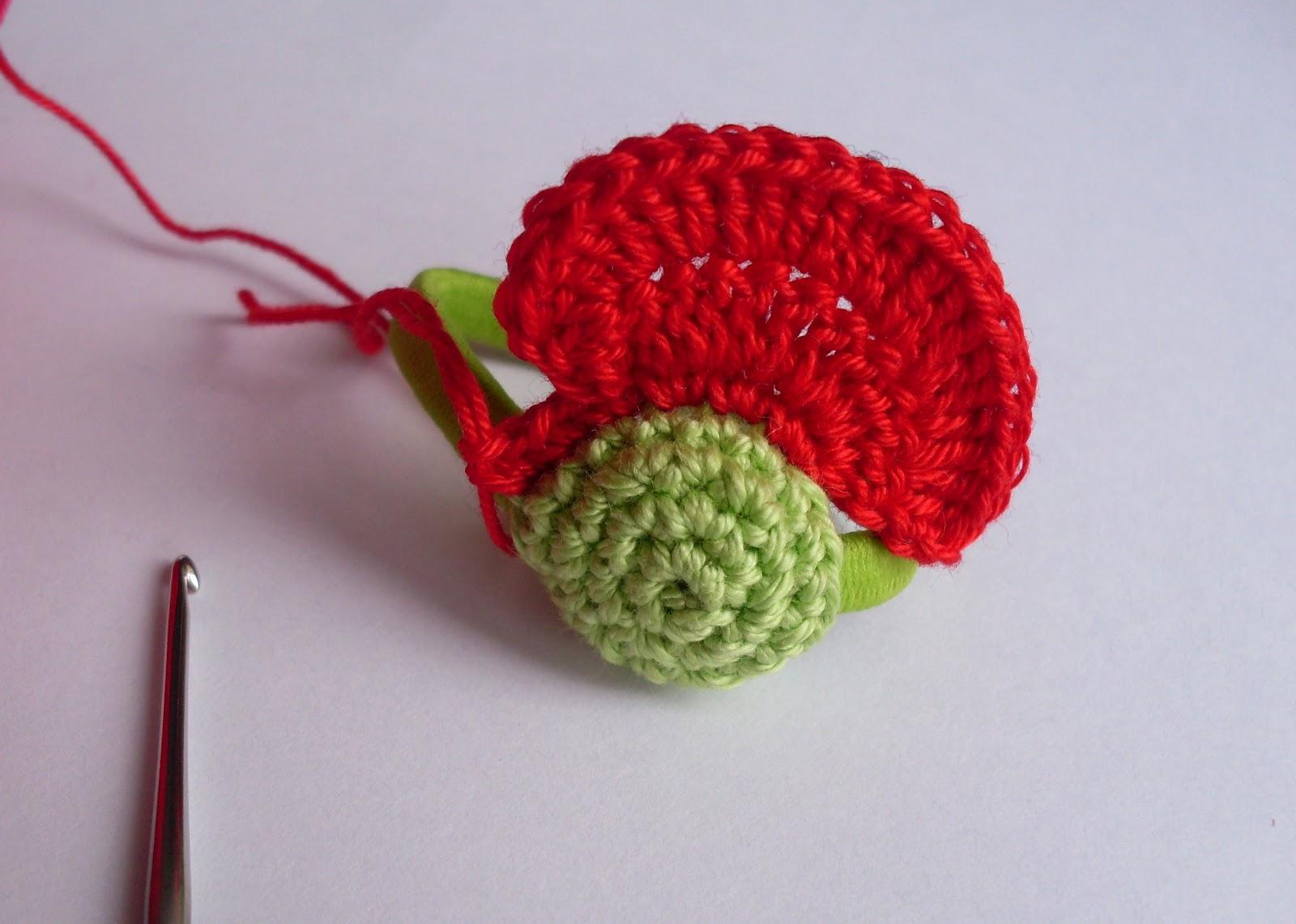 nesvizhanka мак аксессуар вязание крючком детское мк резинка для волос.