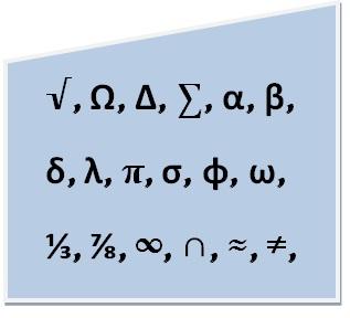 symbole mathématique clavier