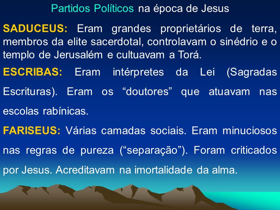A SOCIEDADE EM QUE JESUS VIVEU
