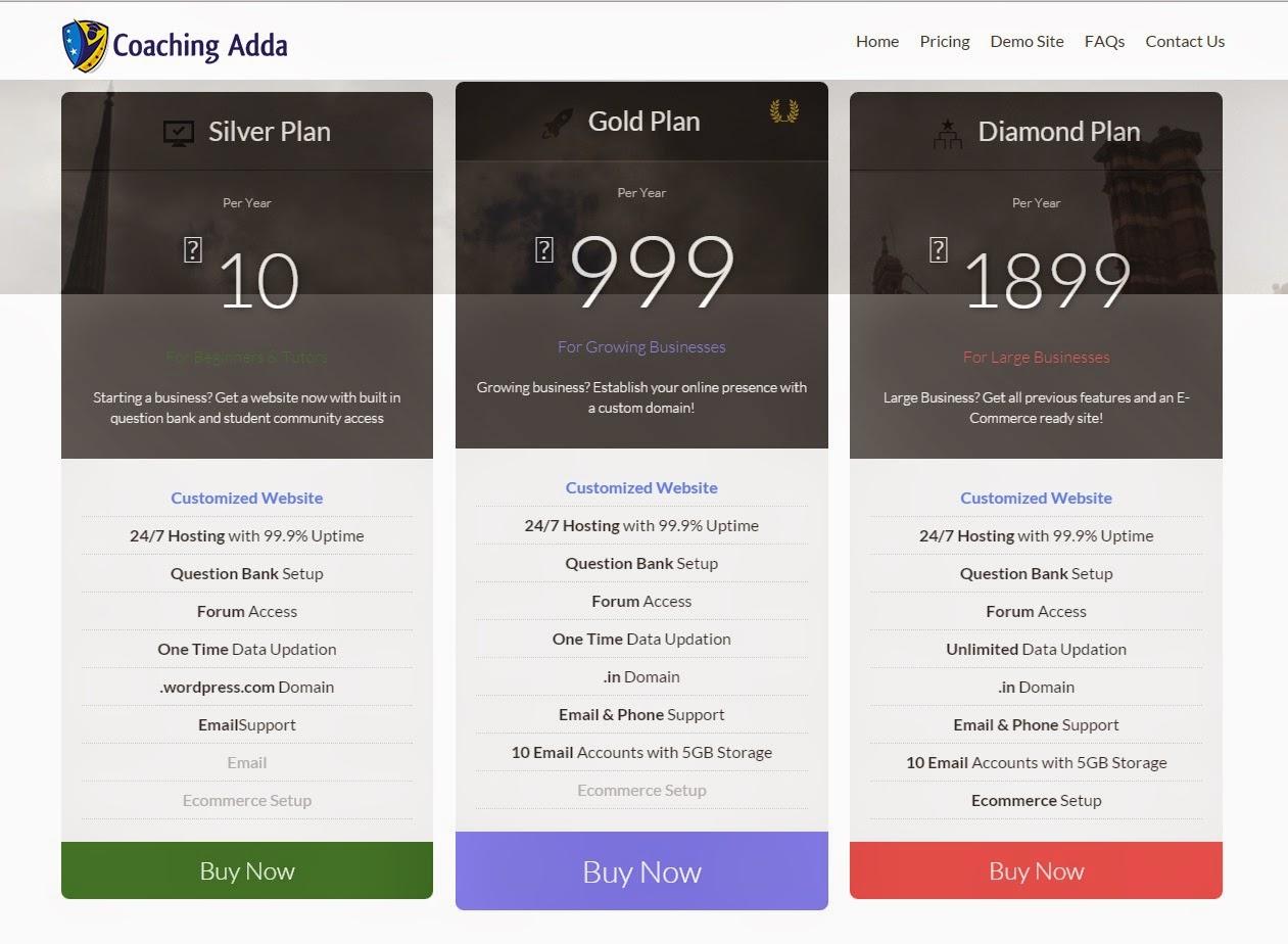 coaching adda website service