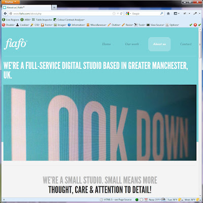 Screen shot of http://www.fiafo.com/about.php.