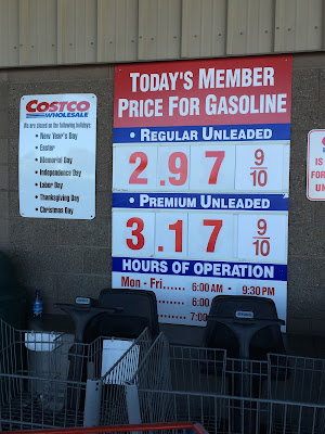 Costco gas for Mar. 28, 2015 at Redwood City, CA