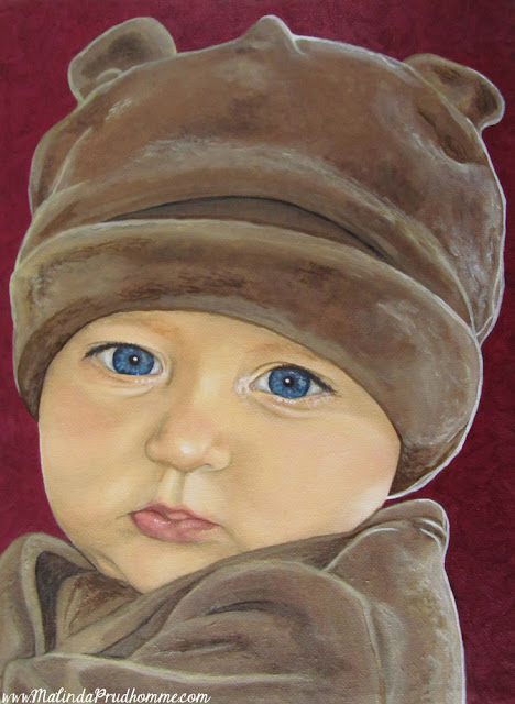 portrait artist, portrait painting, baby portrait, custom baby portrait, oil painting, original artwork
