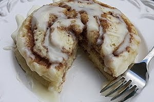 Cinnamon Roll Pancakes