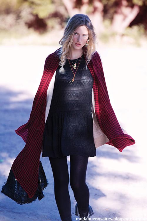 India Style moda vestidos invierno 2013