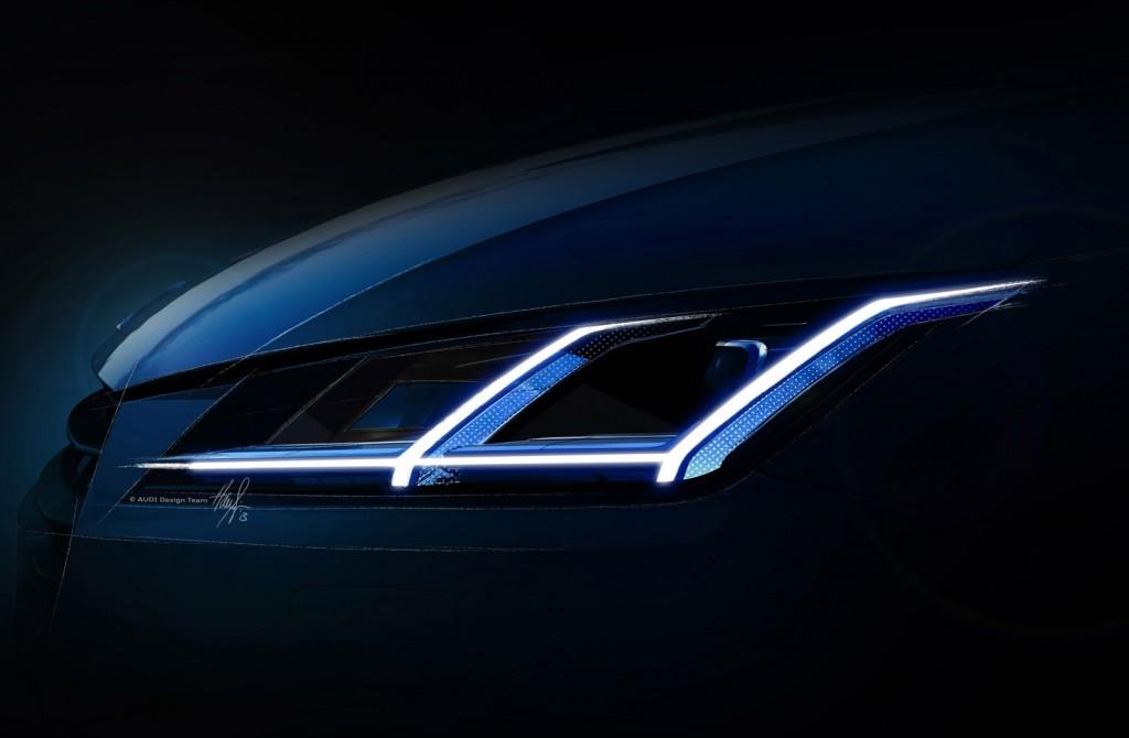 Novo Audi TT 2015 - faróis em LED