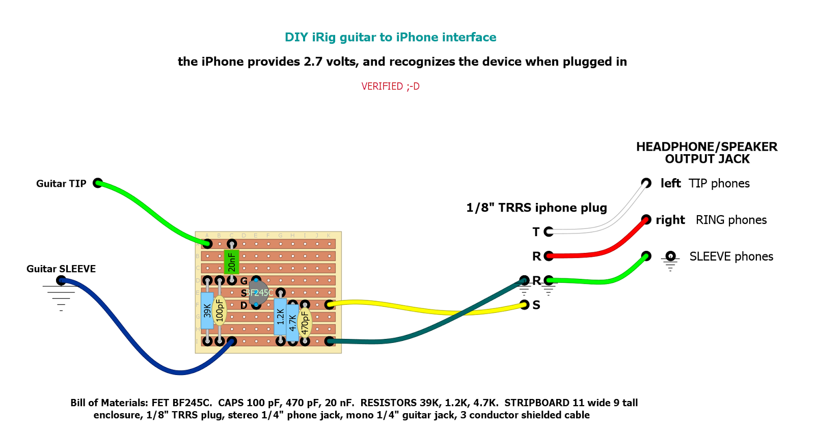 From The Desk Of Dantone Wac Wiley Audio Corporation Diy Irig Iphone 3 Circuit Diagram And Heres Schematic My Stripboard Layout Finished Unit