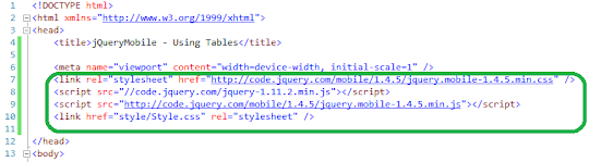 jQueryMobile using  Ajax  to load Json data to a Table    2