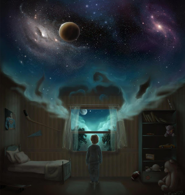 digital art dreaming, fantasy dream, dream wallpaper